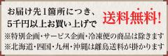 一箇所につき5千円以上で送料無料