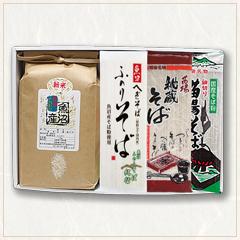 魚沼産コシヒカリ米とそばセット